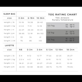 Kyte Baby Bamboo Sleep Bag, 0.5 TOG, Moss