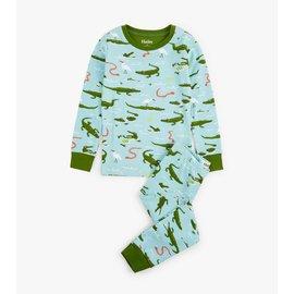 Hatley Organic Swamp Gators PJ Set