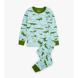 Hatley Organic Swamp Gators PJ Set