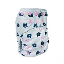 La Petite Ourse One-Size Snap Pocket Diaper, Whiskers
