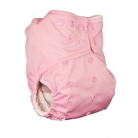 La Petite Ourse One-Size Snap Pocket Diaper, Baby Pink
