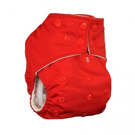La Petite Ourse One-Size Snap Pocket Diaper, Red