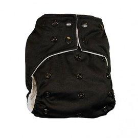 La Petite Ourse One-Size Snap Pocket Diaper, Black