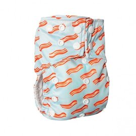 La Petite Ourse One-Size Snap Pocket Diaper, Mmm Bacon