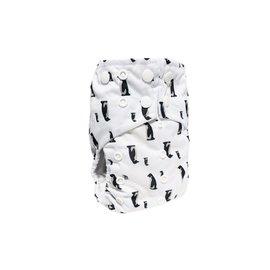 La Petite Ourse One-Size Snap Pocket Diaper, Penguin