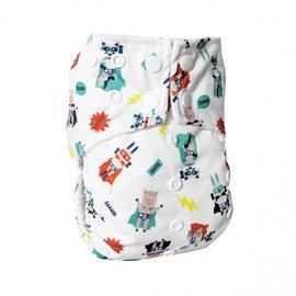 La Petite Ourse One-Size Snap Pocket Diaper, Superheroes