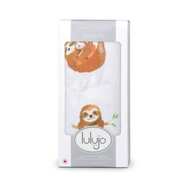Lulujo Sloth Cotton Muslin Swaddle