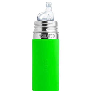 Green Pura 260ml Insulated Sippy Bottle