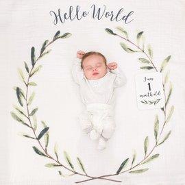 """Lulujo Wreath """"Hello World"""" Welcome Set"""