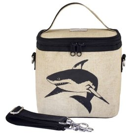 Sharks Raw Linen Small Cooler Bag
