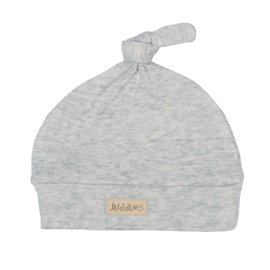 Juddlies Pale Grey Fleck Knotted Beanie