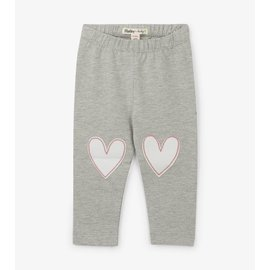 Hatley Grey Hearts Baby Leggings