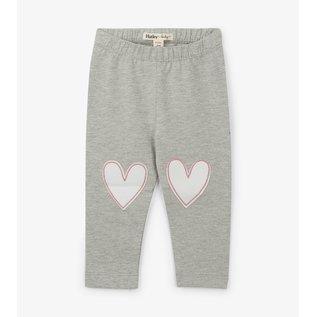 Hatley Grey Hearts Baby Leggings