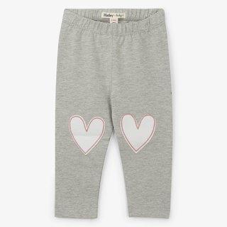 Grey Hearts Baby Leggings