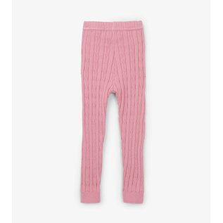 Hatley Pink Cable Knit Baby Leggings