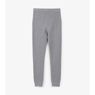 Hatley Silver Shimmer Cable Knit Leggings