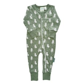 Parade Organics Snowy Trees Organic 2-Way Zippered Romper