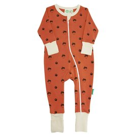 Parade Organics Acorns Organic 2-Way Zippered Romper