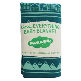 Parade Organics Teal Village Organic 'Everything' Blanket