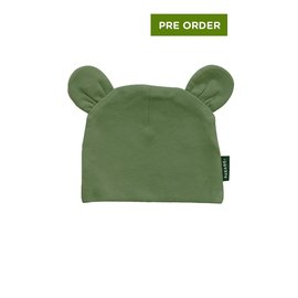 Parade Organics Olive Organic Bear Hat, 0-6m