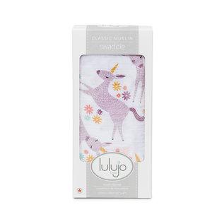 Lulujo Modern Unicorn Cotton Muslin Swaddle