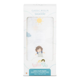 Lulujo Jo Cotton Muslin Swaddle