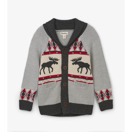 Hatley Moose Cabin Shawl Collar Cardigan