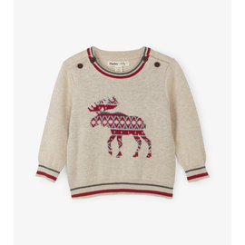 Hatley Argyle Moose Baby Sweater