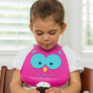 Make My Day What A Hoot Silicone Bib