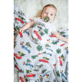 Little Unicorn Holiday Haul Cotton Muslin Swaddle