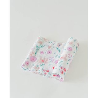 Little Unicorn Morning Glory Cotton Muslin Swaddle