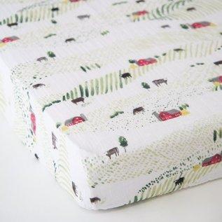 Little Unicorn Rolling Hills Cotton Muslin Crib Sheet