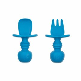 Deep Blue Silicone Chewtensils