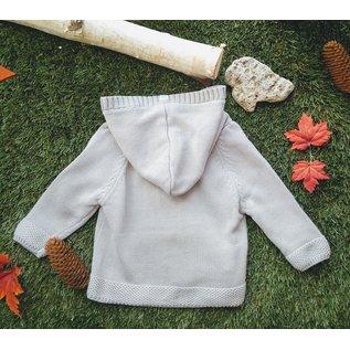 Beba Bean Grey Knit Hoodie