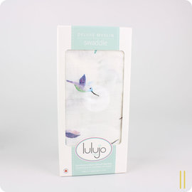 Lulujo Hummingbird Cotton Muslin Swaddle