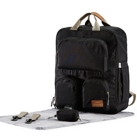 Soho Collections Black Daily Essential Backpack Diaper Bag