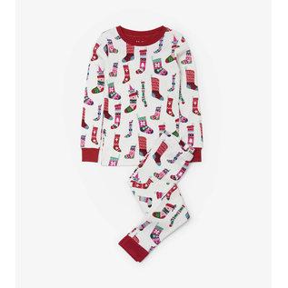 Hatley Holiday Stockings Organic Cotton PJ Set