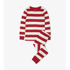 Hatley Candy Cane Stripe Organic Cotton PJ Set