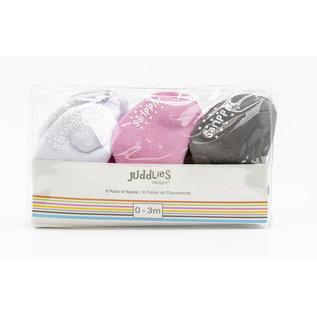 Juddlies Pink Infant Socks 6-Pack