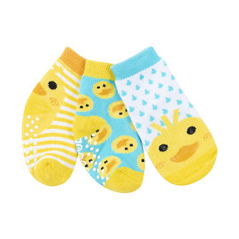 Zoochini Puddles Duck Socks, 0-24m, 3pk