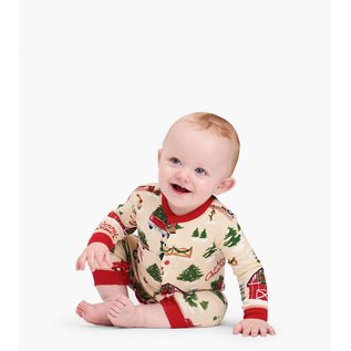 Little Blue House Country Christmas Baby Coverall & Hat Set