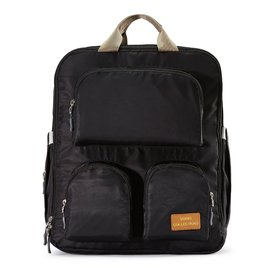 Black Daily Essential Backpack Diaper Bag