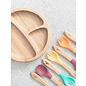Avanchy Bamboo Bamboo Baby Forks 5 Pack w/ Pink