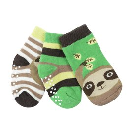 Zoochini Silas Sloth Socks, 0-24m, 3pk