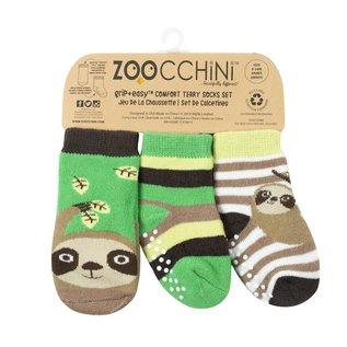 Zoochini Silas Sloth Socks, 0-24m, 3pk
