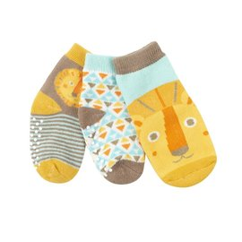 Zoochini Leo Lion Socks, 0-24m, 3pk