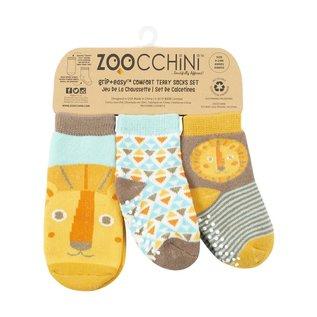 Zoochini Leo Lion Socks, 0-24m, 3pk