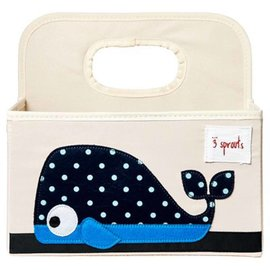 3 Sprouts Whale Diaper Caddy