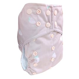 La Petite Ourse One-Size Snap Pocket Diaper, Strawberry