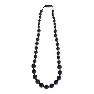 Momzelle Nursing Necklace, Black Rondure